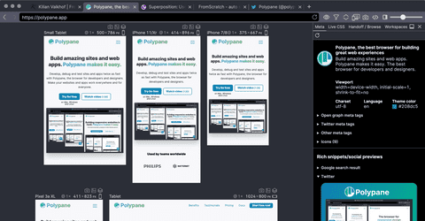Polypane screenshot